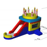 Indoor Children Birthday Candle Inflatable Bounce House Combo With Slide 3 Years Waranty Manufactures