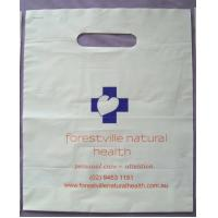 Biodegradable White Plastic Die Cut Handle Bags for Medical Purpose Manufactures