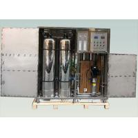 Quality Industrial RO Water Treatment System , 1TPH Containerized Water Treatment Plant for sale