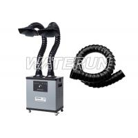 Two Arms 200w 110v Fume Extractor , Grey Color Fume Eliminator With 4 Wheels Manufactures