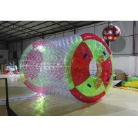 Quality Durable 0.8mm PVC Water Sport Toys / Inflatable Water Roller For Amusement Water for sale