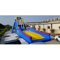Quality PVC Tarpaulin Crazing Fun Giant Inflatable Water Slide Flying Slide For Adults for sale