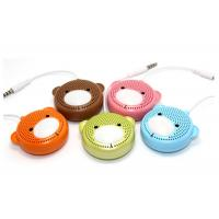 Teddy Bear Model Cartoon Wireless Cell Phone Speakers , 3.5mm Portable Mini Music Speaker Manufactures