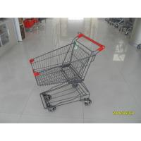 Buy cheap 45L Red Plastic Wire Shopping Trolley Supermarket Shopping Cart For Popular Small Shop from wholesalers