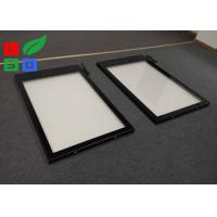 Quality Black Powder Coating LED Outdoor Light Box 50mm Frame Width Low Power Consumption for sale