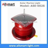 Quality 2-3NM Amber Solar Marine Aquaculture Beacon Light With Bird Spike Solar Navigation Warning Lamp for Ship Boat for sale