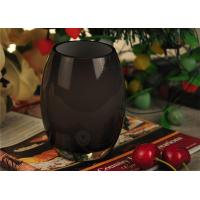 Quality Votive Black Glass Candle Holder Hand Made / Round Candle Holder for sale