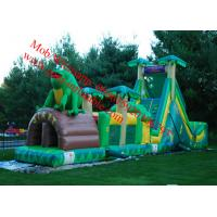 Quality giant inflatable obstacle course tropical obstacle course to wet tropical obstacle course for sale