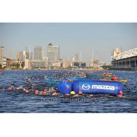 Commercial Advertising Cylinder Inflatable Buoys For Water Triathlons Manufactures