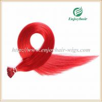 Pre-Bonded Hair 10-28 100s/pack red# color Straight Human Hair Brazilian hair extension Manufactures