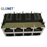 1000 Base T RJ45 2x4 Modular Ethernet Jack With Integrated Transformer