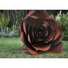 Buy cheap Rose Flower Corten Steel Sculpture , Rusted Metal Garden Sculptures from wholesalers