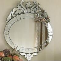 Crown Design Hanging Venetian Wall Mirror 55 * 83cm Size Custom Shape / Color Manufactures
