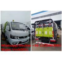 Buy cheap cheapest price dongfeng 4*2 LHD gasoline road cleaning truck for sale, street sweeping truck, road sweeper vehicle from wholesalers