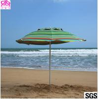 Custom leisure summer outdoor sun beach umbrella , beach umbrella parasol with logo prints Manufactures