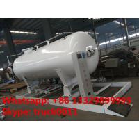 ASME 8m3 skid propane gas refilling plant for sale, hot sale 4MT skid mounted lpg gas tank for gas bottles cylinders Manufactures