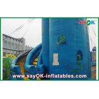 Customized Blue PVC Inflatable Bounce House / Inflatable Slide Manufactures