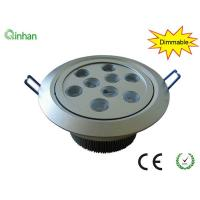 Quality Aluminum and lens 9W 120mm warm white dimmable LED downlights for exhibition for sale