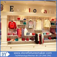 Factory OEM Project wooden Clothing Stores For Boys,Boys Clothing Stores with custom big logo Manufactures
