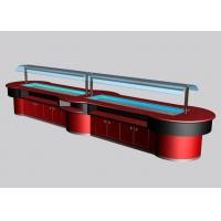 Quality Commercial Buffet Equipment for Salad and Seafood, LED Lighting Refrigerated for sale