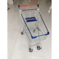 Metal Wheeled Supermarket Shopping Carts With Safety Anti - UV Plastic Parts Manufactures