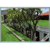 Eco - Friendly No Odor Outdoor Pet Artificial Grass W Shape Monofil PE + Curled PPE Manufactures