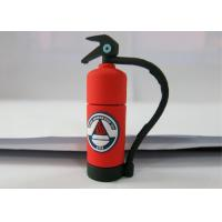 Personalised Red 3.0 Plastic USB Flash Drive , Fire Extinguishing Shape Manufactures
