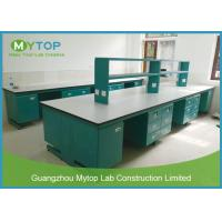 Floor Mounted Science Lab Tables Modular Laboratory Furniture For Pharmacy Company Manufactures
