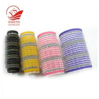 China Colorful Hook Loop Plastic Hair Rollers For Beauty , Sponge Hair Curler on sale