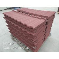 Zn - Al Steel Material Color Stone Coated Steel Roof Tiles 1340x420mm Size Manufactures