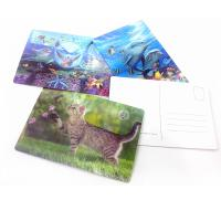 Fashion Plastic 3D lenticular postcards for gifts Manufactures