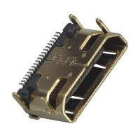 Computer Pin Connectors Mini HDMI 19P Right Angle & SMT LCP Black UL94V-0 Manufactures