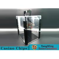 Portable Poker Chip Holder With Tray For 1000 Pcs 40mm Casino Poker Chips Manufactures