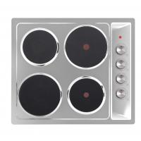 Silver 4 Hotplate Stainless Steel Electric Hob Induction Cooktop 6000W Manufactures
