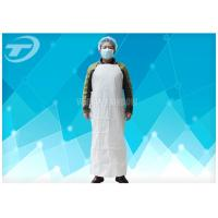 Plastic Coated Aprons Waterproof  43 Gsm / Disposable White Coats Manufactures