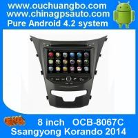 Ouchuangbo Android 4.2 Car DVD Radio Stereo System for Ssangyong Korando 2014 3G Wifi USB GPS OCB-8067C Manufactures