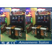 Indoor Shooting Game Machine Coin Operated / RAMBO Arcade Game 5 Stages Manufactures