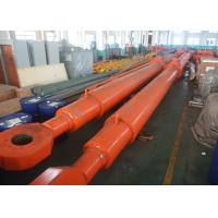 Custom Deep Hole Single Acting Hydraulic Cylinder For Hydropower Dump Truck Manufactures