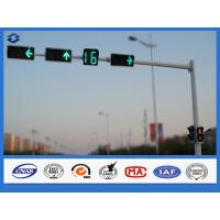 Single Arm Hot Dip Galvanized Traffic Signal Pole Q235 steel Material Manufactures