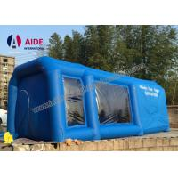 Mobile Used Inflatable Paint Booth , Gray Environmental Car Painting Tent Manufactures