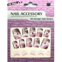 China Eco - friendly glue self - adhesive 2d Glitter DIY Nail Stickers for girls with Rhinestone on sale