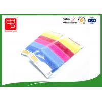 Hook and Loop Cable Tie Custom With Supermarket Package , Reusable cable ties Candy Color Manufactures