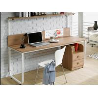 Table type household double person Computer table, bookshelf combination table modern concise notebook computer table Manufactures