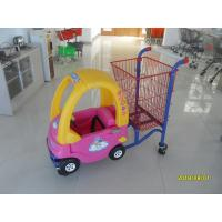 Buy cheap Red Powder Coated childrens shopping cart travelator casters With Toy Car from wholesalers