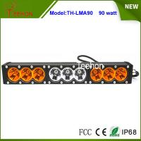 "90w 16.6"" 9-30V combo single stack offroad led light bar with amber and transparent cover Manufactures"