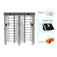 Card Or Biometric RFID Full Height Turnstiles Electrical Barrier With 0.6S Response Time Manufactures