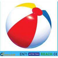 Rainbow Inflatable Beach Ball 6 Panels Type Phthalate Free PVC Vinyl Material Manufactures