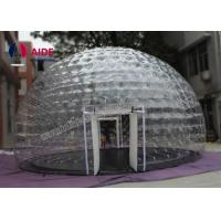 0.8mm Pvc Material Dry Inflatable Event Tent Holley web Inflatable Bubble Tent House Dome