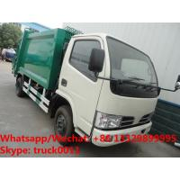HOT SALE! exported model- Dongfeng RHD 4*2 5m3 small garbage compactor truck, refuse garbage truck Manufactures