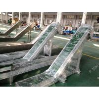 PVC Rough Top Ribbed Conveyor Belt For Express Clothing Industry Stainless Steel Manufactures